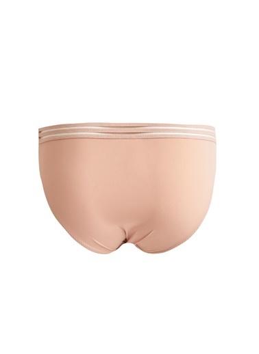 Defacto –Fit Yeni Yıl  Dantel Çizgili Bikini Külot Bej